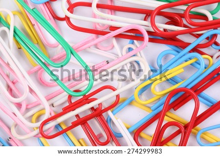 closeup colorful pushpin on white background with clipping path - stock photo