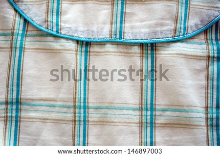 closeup crumple fabric green square shape texture background.  - stock photo