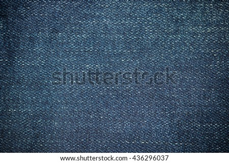Closeup denim seam jeans  background - stock photo