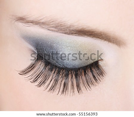 closeup eye - stock photo