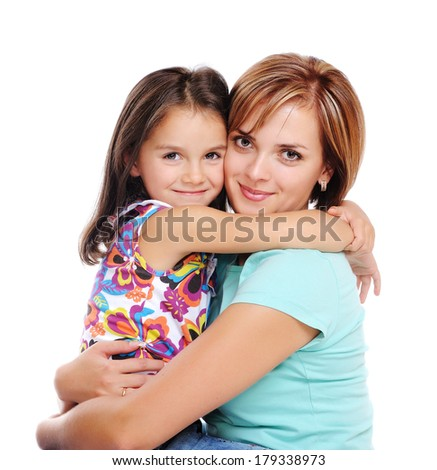 closeup family portrait - stock photo