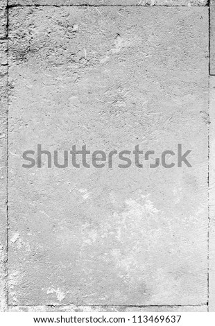 Closeup fragment of stucco wall of a building - stock photo
