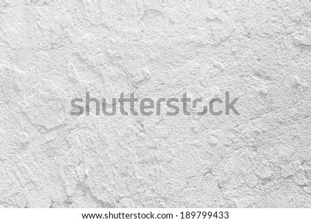 Closeup grunge texture white paint cement wall. - stock photo