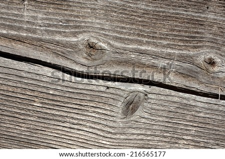 Closeup image of cracked rough wood texture - stock photo