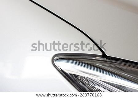 closeup image of shiny car body - stock photo