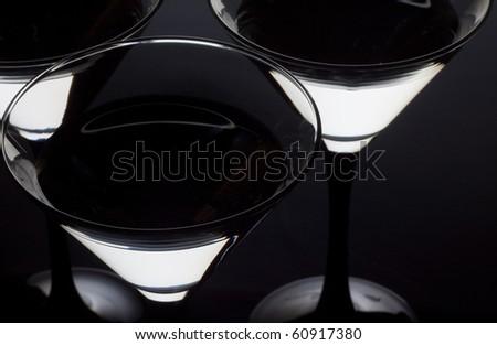 Closeup Martini glass - stock photo