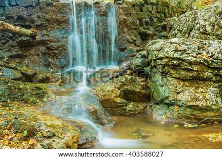 closeup mountain brook - stock photo