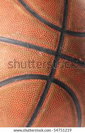 closeup of a basketball ball - stock photo