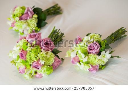 Closeup Of A Beautiful Rose Bouquet - stock photo