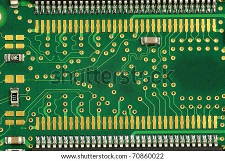 closeup of a computer circuit - stock photo