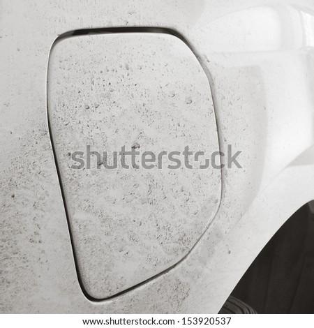 closeup of a dirty car - stock photo