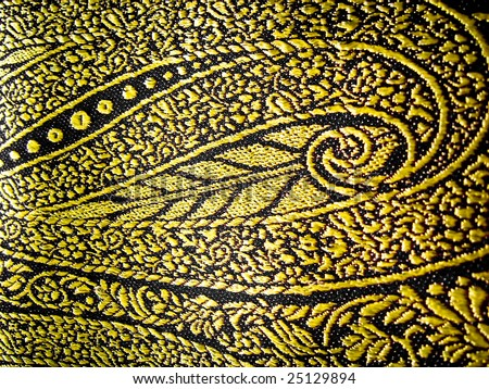 Closeup of a floral design on a indian traditional outfit known as the sari/saree - stock photo