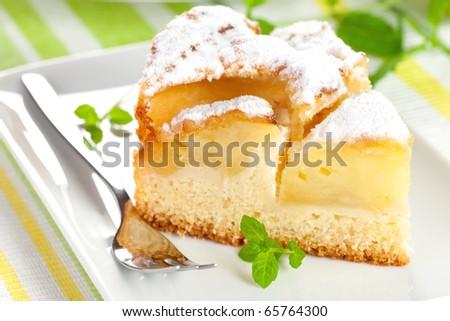 closeup of a fresh baked apple pie - stock photo