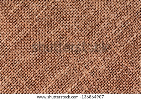 Closeup of a natural burlap texture as the background - stock photo