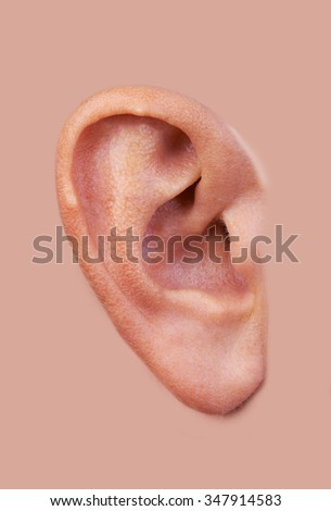 Closeup of a perfect human ear background - stock photo