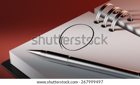 Closeup of a personal agenda, organizer or planner, setting an important date with a Ballpoint pen marking a day of the month representing a organizing time and schedule. - stock photo