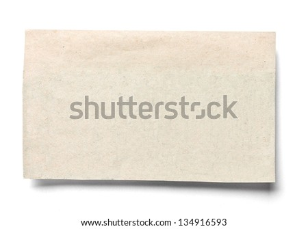 closeup of a piece of newspaper on white background - stock photo