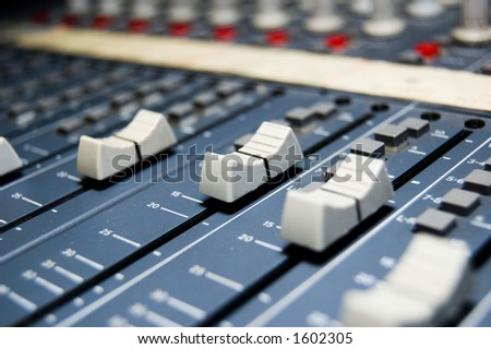 closeup of a studio mixer - stock photo