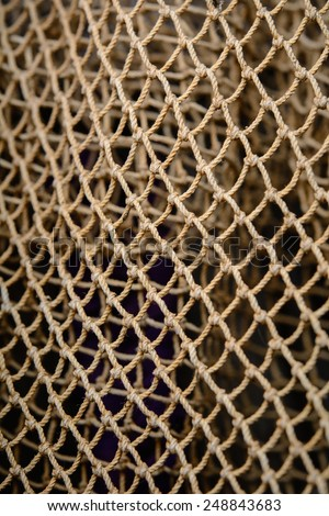 Closeup of abstract fishnet - stock photo