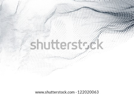 Closeup of abstract fishnet on white background - stock photo