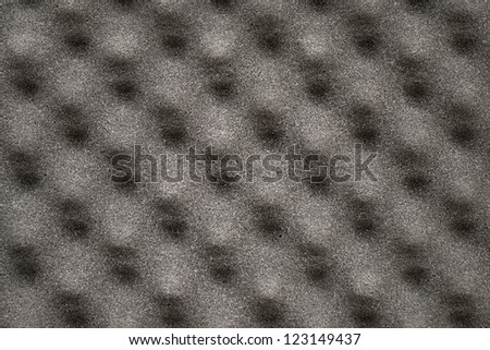 Closeup of acoustic foam for texture or background - stock photo