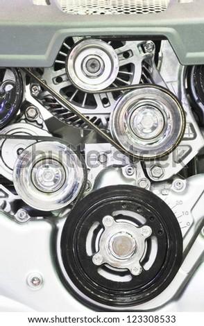 Closeup of an engine - stock photo