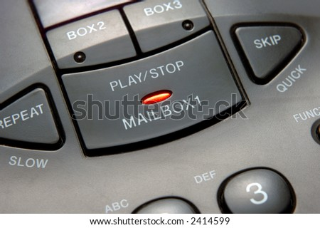 closeup of answering machine - stock photo