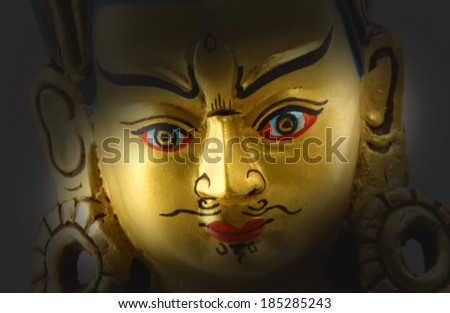 Closeup of Antique buddha.  - stock photo