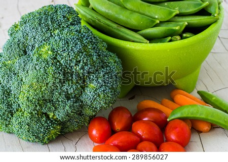 Closeup of assorted  vegetables. - stock photo