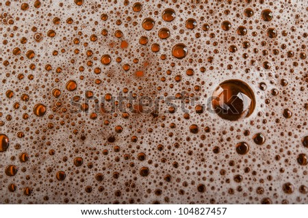 closeup of beer bubble texture - stock photo