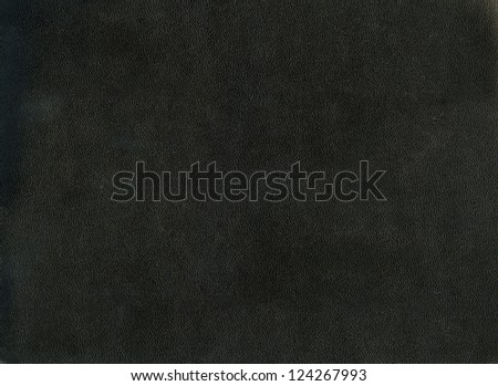Closeup of black leather texture - stock photo