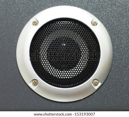 Closeup of black speaker - stock photo