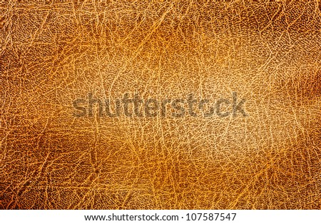 Closeup of brown leather texture. - stock photo