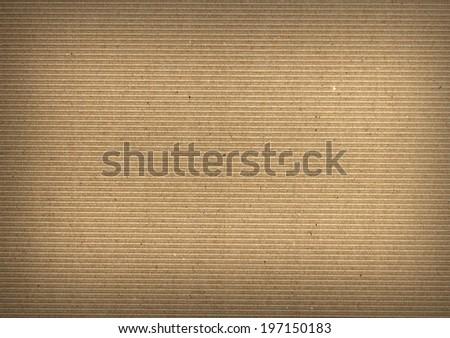 Closeup of brown paper cardboard Texture  - stock photo