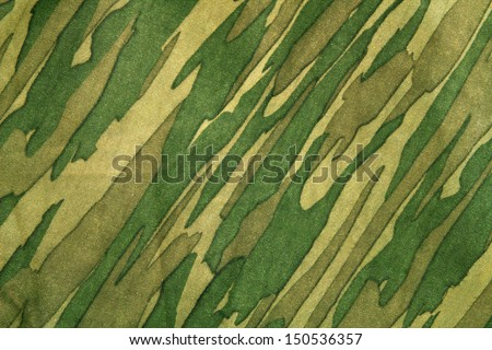 Closeup of camouflage pattern. Background or texture - stock photo