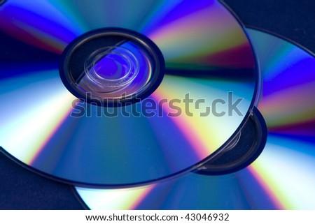 Closeup of CD / DVD - stock photo