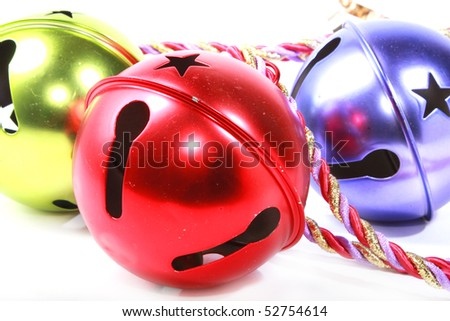 Closeup of Christmas ornaments - stock photo