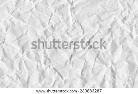 Closeup of crumpled paper texture. - stock photo
