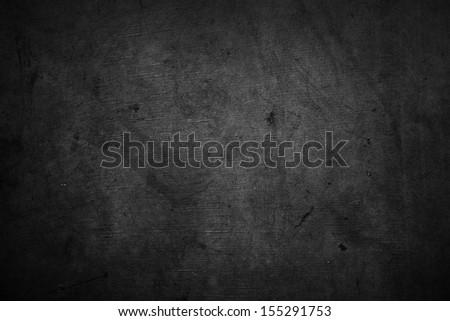 Closeup of dark grunge textured background - stock photo