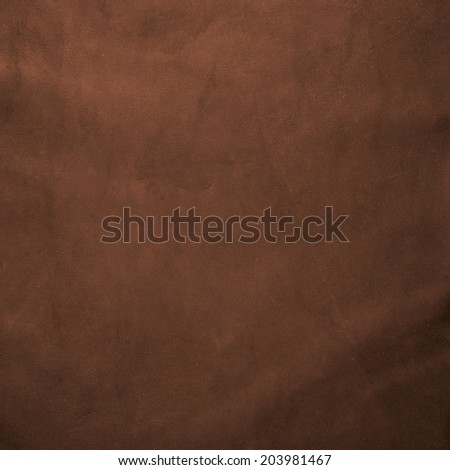 Closeup of detailed brown leather texture background. - stock photo