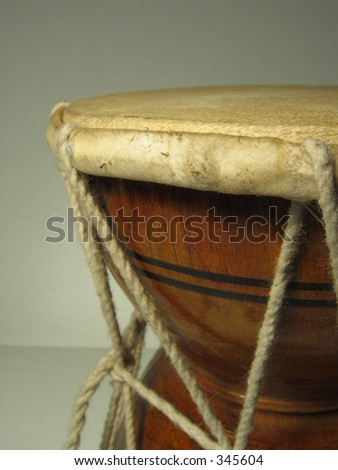 Closeup of drum from India - stock photo