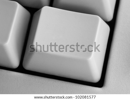 Closeup of empty computer key on keyboard with space for your text or image - stock photo