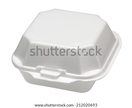 Closeup of food  container.  - stock photo