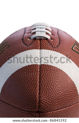 Closeup of football isolated on white background with clipping path. - stock photo
