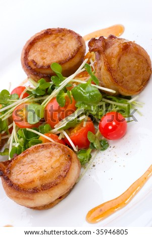 Bacon Wrapped Scallops Stock Photos, Images, & Pictures | Shutterstock