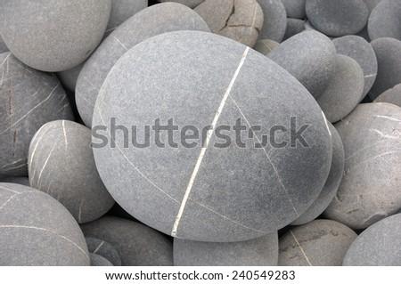 closeup of gray pebbles background - stock photo