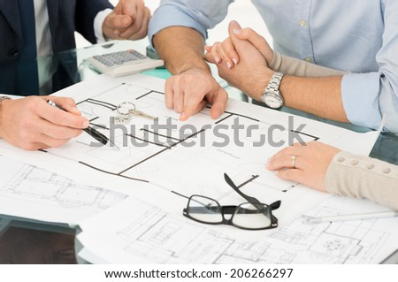 Closeup Of Happy Couple Buying A New House - stock photo
