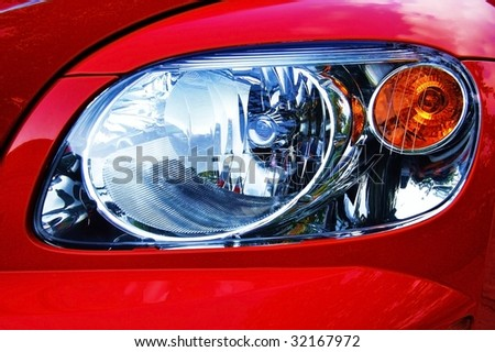 closeup of headlight - stock photo