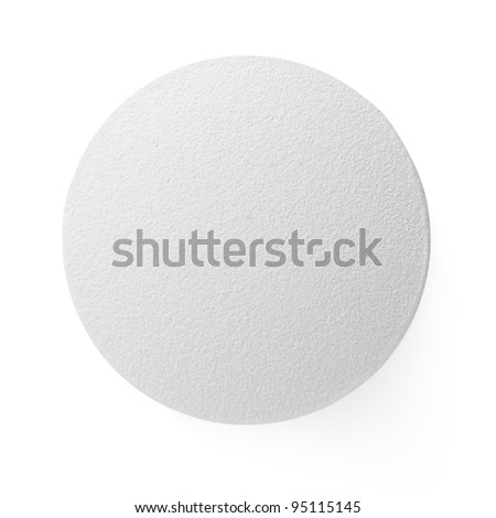 Closeup of medical pill isolated on white background - stock photo