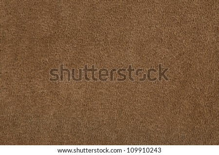 Closeup of natural background - brown suede. - stock photo